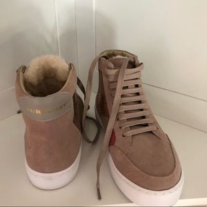 Burberry Sneakers with Fur